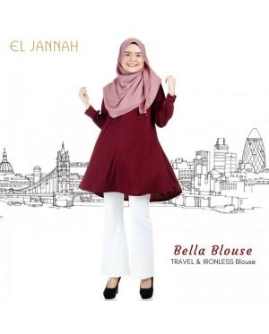 El Jannah Bella Blouse Maroon