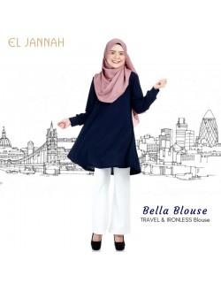 El Jannah Bella Blouse Navy Blue