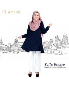 El Jannah Bella Blouse Navy Blue
