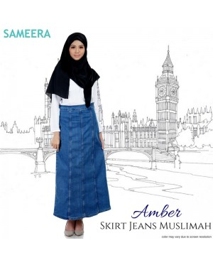 Skirt Jeans Muslimah Amber