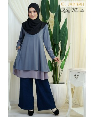El Jannah Qisty Blouse Greey