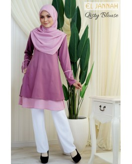 El Jannah Qisty Blouse Dusty Pink